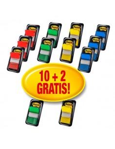 Post-it® Index 680 - segnapagina - blu, giallo, rosso, verde - 680-10+2 (conf.10+2)