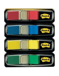 Post-it® Index Mini 683 - blu, giallo, rosso, verde - 683-4 (conf.4)