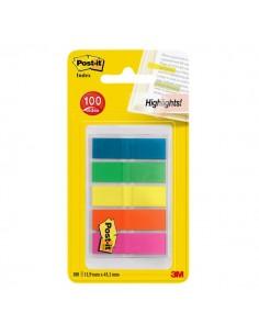 Post-it® Index Full Color 683 - arancio, blu, giallo, verde, viola - 683-HF5EU (conf.5)