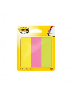 Post-it® Notes Markers - 25x76 mm - giallo, rosa, verde - 671-3 (conf.3)