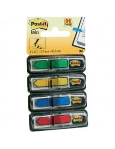 Post-it® Index Mini 684 - blu, giallo, rosso, verde - 684-ARR3 (conf.4)