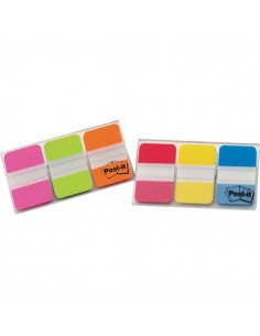 Post-it® Index Strong Medium 686 - blu, giallo, rosso - 686-RYB (conf.3)