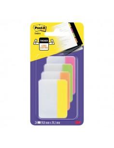 Post-it® Index Strong 686 Colore per archivio - rosa, lime, arancio, giallo - 686-PLOYEU (conf.24)