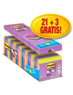 Foglietti Post-It® Super Sticky Value Pack Colore - 76x76 mm - 32516 (Conf.24)