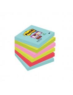 Foglietti Post-it® Super Sticky Miami - assortiti a tema Miami - 76x76 mm - 654-6SS-MIA (conf.6)