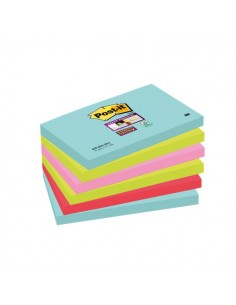 Foglietti Post-it® Super Sticky Miami - assortiti a tema Miami - 76x127 mm - 655-6SS-MIA (conf.6)