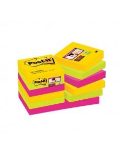 Foglietti Post-it® Super Sticky Rio De Janeiro Post-It - 47,6x47,6 mm - 622-12SSRIO-EU (conf.12)