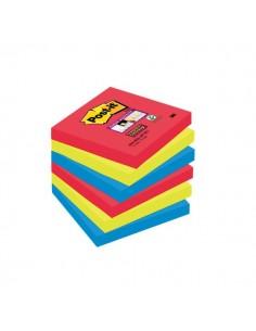 Post-it® Super Sticky colori Bora Bora - 76x76 mm - rosso verde acqua - 654-6SS-JP (conf.6)