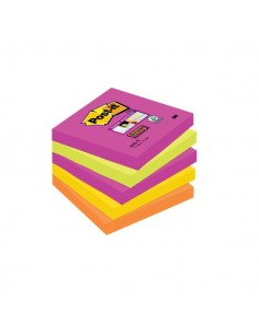 Post-it® Super Sticky Cape Town - 76x76 mm - arancione, rosa, verde, corallo, giallo oro - 654S-N