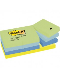 Post-it® Note Dream - tinta unita - 100 - 38x51 mm - verde,blu - 653-MTDR (conf.12)