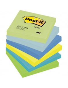 Post-it® Note Dream - tinta unita - 100 - 76x76 mm - verde,blu - 654-MTDR (conf.6)