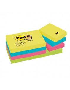 Post-it® Note Energy - tinta unita - 100 - 38x51 mm - neon arcobaleno - 653-TFEN (conf.12)