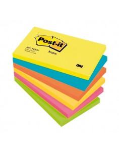 Post-it® Note Energy - tinta unita - 100 - 76x127 mm - neon arcobaleno - 655-TFEN (conf.6)