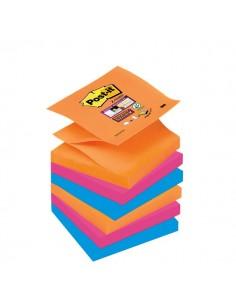Ricariche Post-it® Z-Notes Super Sticky Post-It Bangkok - 76x76 mm - assortiti - R330-6SS-EG (conf.6)