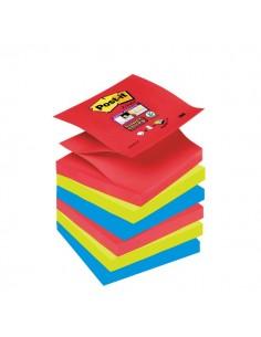 Ricariche Post-it® Z-Notes Super Sticky Post-It Bora Bora -76x76 mm - assortiti - R330-6SS-JP (conf.6)