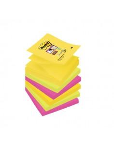 Ricariche Di Foglietti Post-It® Super Sticky Z-Notes Colorate - 76x76 mm - R330-Ss-Rio-Eu (Conf.6)