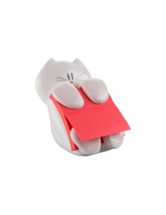 Dispenser Gatto Emotional Post-it® Z-Notes - 76x76 mm - bianco - rosso rubino - CAT-330