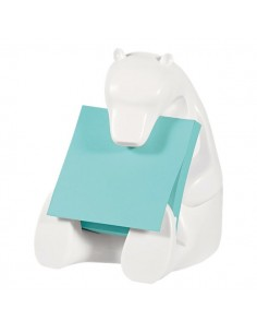 Dispenser Orso Post-it® Z-Notes + 1 ricarica di foglietti Acquamarina - BEAR-330