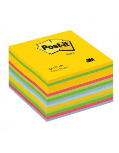 Post-it® Cubi Neon - 76x76 mm - giallo neon, verde ultra, verde, rosa ultra, blu ultra, blu - 2030-U
