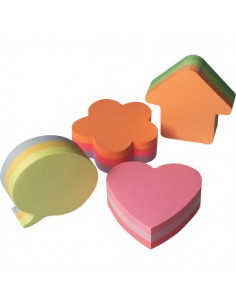 Post-it® Cubi sagomati - cuore - assortiti - 2007-H