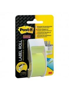Etichette riposizionabili in rotolo Post-It - 25,4 mm x 10,1 m - verde - 2650-GEU