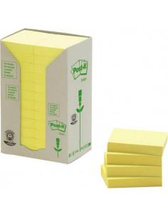 Post-it® Note in carta riciclata - giallo - 38x51 mm - 653-1T (conf.24)