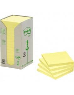 Post-it® Note in carta riciclata - giallo - 76x76 mm - 654-1T (conf.16)