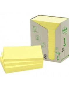 Post-it® Note in carta riciclata - giallo - 127x76 mm - 655-1T (conf.16)