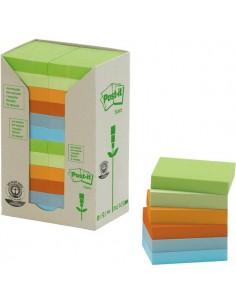 Post-it® Note in carta riciclata - assortiti pastello - 38x51 mm - 653-1RPT (conf.24)