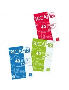 Ricambi bianchi per quaderni Pigna - A5 - 1R - 00629041R (conf.40 fogli)