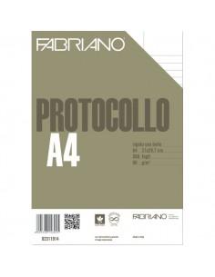 Fogli protocollo Fabriano - per stampanti - rigato uso bollo - 80 g/mq - 02311914 (conf.500)