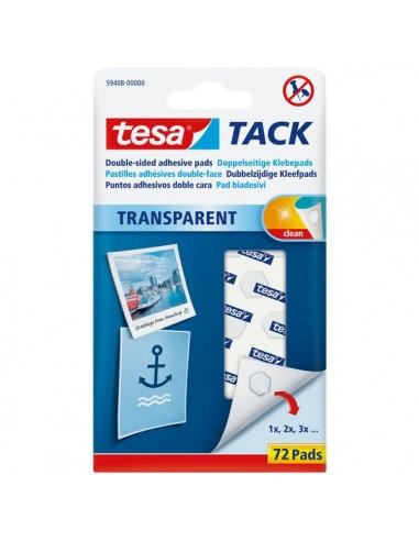Tasselli TACK® Tesa - trasparente - 59400 (conf.72)