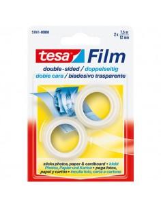 Nastro biadesivo trasparente tesafilm Tesa - Rotolo - 12 mm x 7,5 m - 57911 (conf.2)