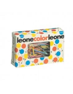 Fermagli colorati Leone Color Dell'Era - Scatola con finestra - N 4 - 32 mm - FX5 (conf.50)