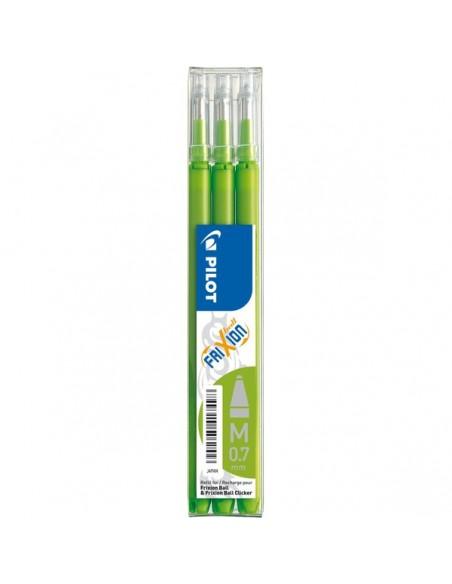 Refill per penna a sfera cancellabile Frixion Ball Pilot - verde chiaro - 006608 (conf.3)