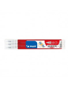 Refill penna Frixion Ball e Clicker Pilot - 1 mm - rosso - 006677 (conf.3)