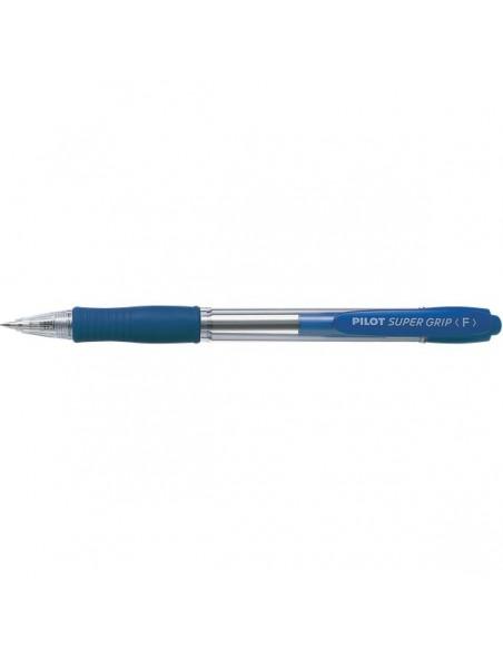 Penna a sfera a scatto Supergrip Pilot - 1 mm - blu - 001441 (conf.12)