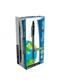 Penna A Sfera A Scatto Flexgrip Ultra Recycled Papermate - Value Pack - Nero - 1910073 (Conf.36)