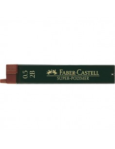 Mine SUPERPOLYMER Faber Castell - 0,5 mm - 2B - 120502 (conf.12)