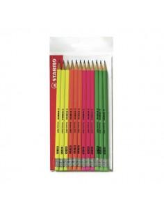 Matite Swano fluo® Stabilo - HB - IT12/110-490712 (conf.12)