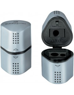 Temperamatite Grip 2001 Faber Castell - 3 fori - grigio - 183800