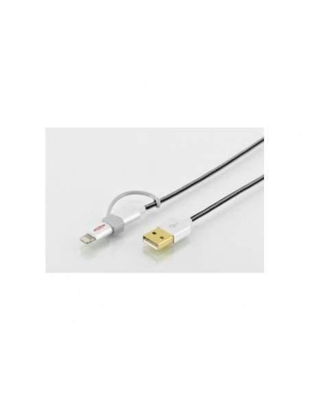 Cavo USB 2.0 2in1 sincronizzazione e ricarica Ednet - 1 m - 31052