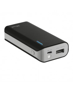 Caricatore Portatile Power Bank 4400 Trust - Nero - 21224
