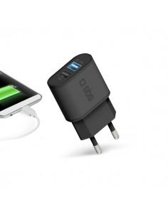 Caricabatterie da rete 2.100 mAh 2 uscite USB SBS - TETR2USB21AFAST