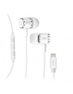 Auricolari Bluetooth in- ear con cavo lightning SBS - bianco - TEEARSETAPLIGW