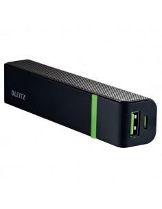 Caricatore HiSpeed Powerbank Leitz - 2600mAh - 1 x Micro USB (DC 5V, 2A) - Nero - 63110095