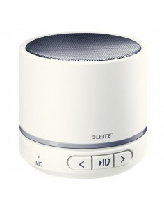 Minicassa wireless Bluetooth WOW Leitz - bianco metallizzato - 63581001