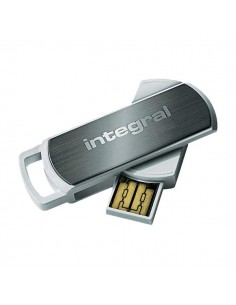 Chiavette USB 360 Integral - 360 Secure USB - 8 GB - nero - INFD8GB360SECV2