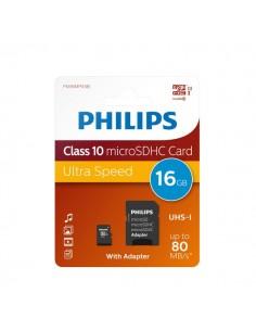 Flash Memory Card Micro Philips - 16GB - Micro SDHC Class 10 - PHMSDMA16GBHCCL10