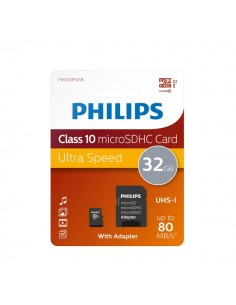 Flash Memory Card Micro Philips - 32GB - Micro SDHC Class 10 - PHMSDMA32GBHCCL10